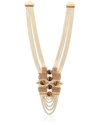 Lucia Odescalchi | Metallic Chapter Two Tiger's Eye Necklace | Lyst