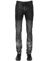 Diesel Black Gold   Gray 17cm Washed & Coated Stretch Denim Jeans for Men   Lyst
