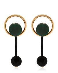 Marni | Green Round Drop Earrings | Lyst