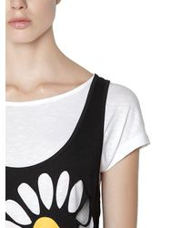 Love Moschino - Black Double Layer Tank Dress - Lyst