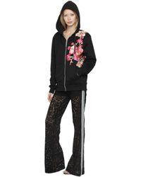 Ainea | Black Hand-embroidered Hooded Sweatshirt | Lyst