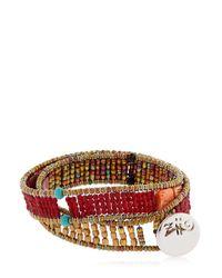 Ziio   Brown Boa Wrap Around Bracelet   Lyst