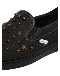Jimmy Choo - Black Grove Waxed Nubuck Slip-on Sneaker for Men - Lyst