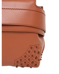 Tod's | Brown Small Wave Smooth Leather Bag | Lyst
