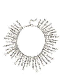 Giuseppe Zanotti | Metallic Dripping Crystal Necklace | Lyst