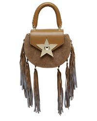 Salar | Brown Mimi Fringed Leather & Suede Shoulder Bag | Lyst