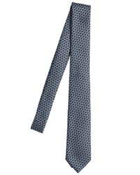Z Zegna   Blue 6cm Silk Jacquard Tie for Men   Lyst