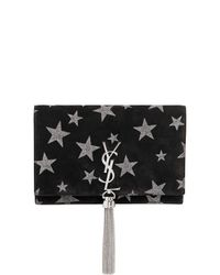 Saint Laurent | Black Kate Monogram Stars Suede Chain Bag | Lyst