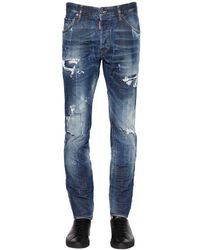 DSquared² | Blue 16.5cm Cool Guy Distressed Denim Jeans for Men | Lyst