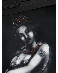 Lanvin - Black Print Nylon Pouch - Lyst