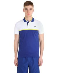 Lacoste | Blue Microfiber Ultra Dry Tennis Polo Shirt for Men | Lyst