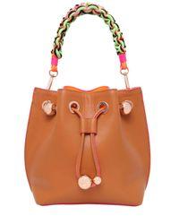 Sophia Webster | Brown Romy Mini Leather Bucket Bag | Lyst