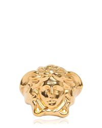Versace | Metallic Medusa Ring | Lyst
