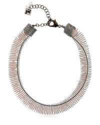 Rosantica | Pink Trottola Rose Quartz Beaded Necklace | Lyst