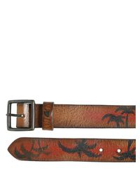 HTC Hollywood Trading Company | Brown 30mm Paradise Hand Painted Leather Belt for Men | Lyst