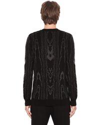 Balmain - Black Jacquard Sailor Sweater for Men - Lyst