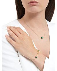 Delfina Delettrez - Metallic Sliding Agate Drops Bracelet - Lyst