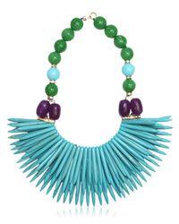 Katerina Psoma | Blue Nuwa Fringed Beaded Necklace | Lyst