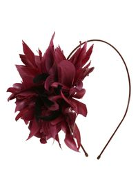 Nanà Firenze - Purple Feather Flowers Headband - Lyst