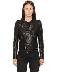 Belstaff | Black Nappa Leather Biker Jacket | Lyst