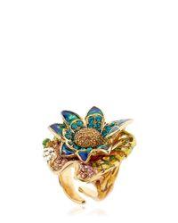 Casadei | Metallic Amazon Jungle Flower Ring | Lyst