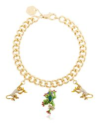 Casadei | Metallic Amazon Jungle Chain Necklace W/ Charms | Lyst