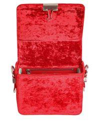 Off-White c/o Virgil Abloh - Red Binder Clip Velvet Shoulder Bag - Lyst