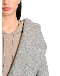Max Mara | Gray Oversized Hooded Alpaca Long Coat | Lyst