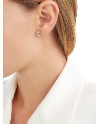 Delfina Delettrez - Metallic Seal Gold Peridot & Pearl Mono Earring - Lyst