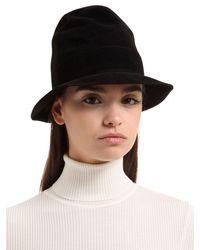 Scha - Black Tall Fur Felt Hat - Lyst