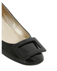 Roger Vivier - Black 35mm Belle De Nuit Patent Leather Pumps - Lyst