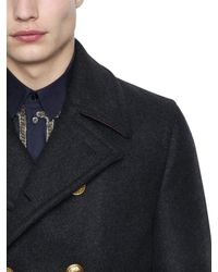 Dolce & Gabbana - Gray Wool Cashmere Cloth Pea Coat for Men - Lyst