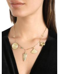 Elizabeth and James - Metallic Lyra Necklace - Lyst