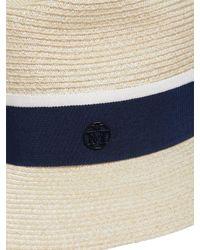 Maison Michel - Blue Henrietta Straw Hat - Lyst