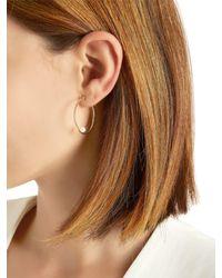Anissa Kermiche | Metallic Creole Rondeur Pearl Mono Earring | Lyst