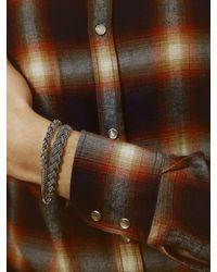 Emanuele Bicocchi - Metallic Flat Braided Chain Bracelet for Men - Lyst