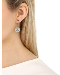 GIOIELLI CORSINI - Metallic Anchor Pendant Hoop Earrings - Lyst