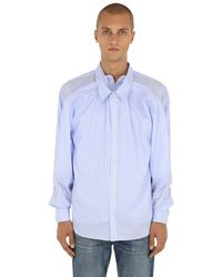 Y. Project - Blue Hemd Aus Mehreren Baumwollpopelineschichten for Men - Lyst