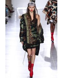 Ashish - Multicolor Camouflage Sequined Faux Fur Parka - Lyst
