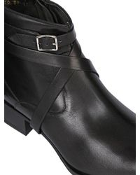 Mr. Hare - Black Leather Ankle Boots W/ Wrap Around Strap - Lyst
