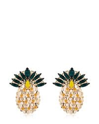 Anton Heunis | Metallic Pandora's Box Pineapple Earrings | Lyst