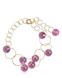 Marni - Pink Multi Spheres Chocker Necklace - Lyst