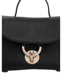 Ferragamo Black Mini Stella Leather Bag