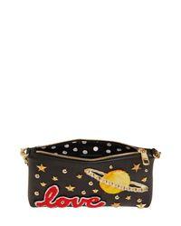 Dolce & Gabbana - Black Love Studded Leather Clutch - Lyst