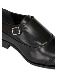 Mr. Hare - Black Leather Monk Strap Shoes for Men - Lyst