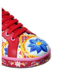Dolce & Gabbana - Multicolor 20mm Portofino Maiolica Leather Sneakers - Lyst
