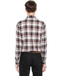 Saint Laurent - Multicolor Westernhemd Aus Baumwollflannell for Men - Lyst