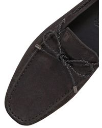 Tod's - Black Gommino 122 My Color Nubuck Driving Shoe for Men - Lyst