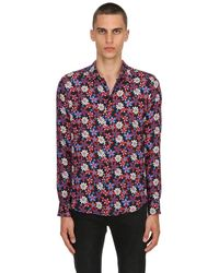 Garçons Infideles - Multicolor Seidenbluse Mit Blumendruck for Men - Lyst