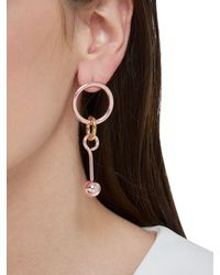Maria Francesca Pepe - Pink Hoops I Did It Again Earrings - Lyst